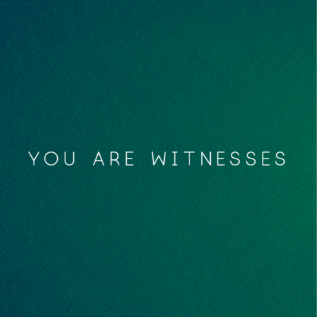 YOU ARE WITNESSES