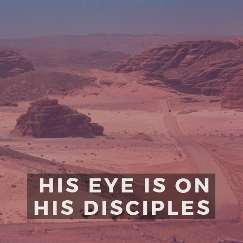 His Eye is on His Disciples
